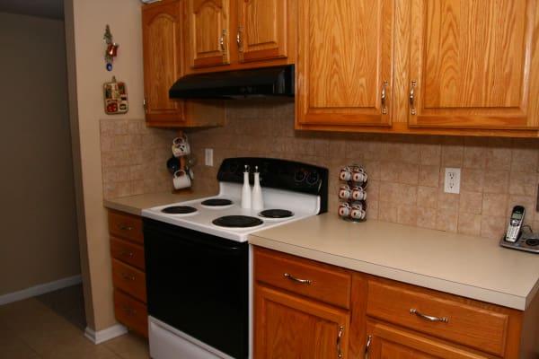 Kitchen model at North Hills Apartments