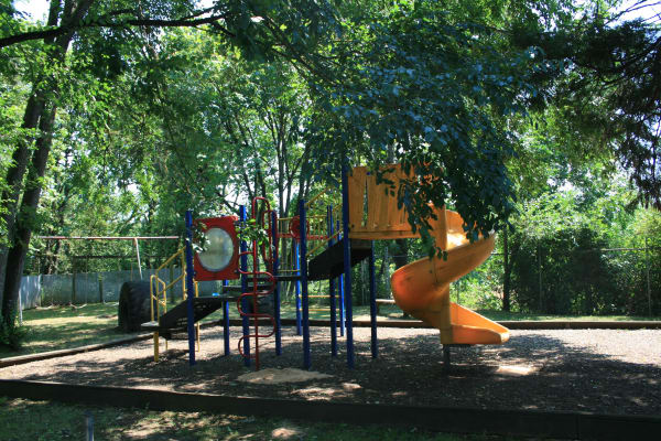 A beautiful playground that is great for entertaining at Fountain Court in Springfield, Oregon