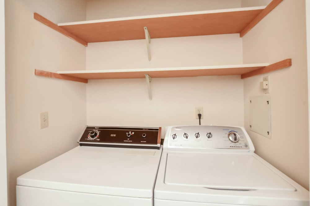 In unit washer and dryers at Arbor Square Apartments in Olympia, Washington