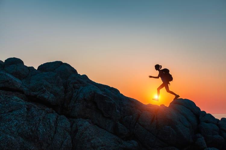 Woman hiking in Colorado Springs, CO