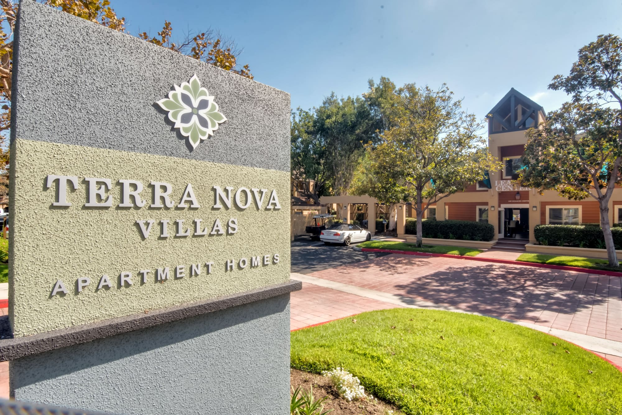 Entrance Monument Sign at Terra Nova Villas in Chula Vista, CA
