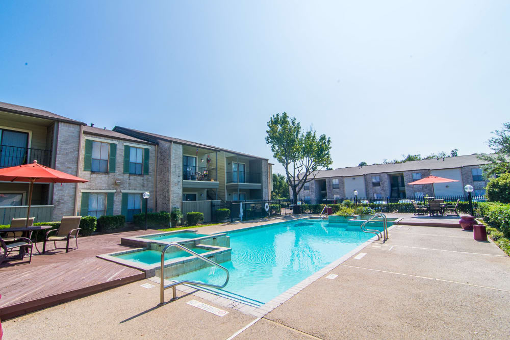 Sparkling pool at Meadowbrook Apartments