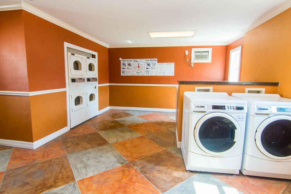 Fully equipped laundry facility at Meadowbrook Apartments