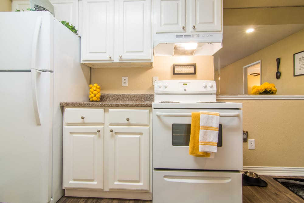 Meadowbrook Apartments comes with all white appliances