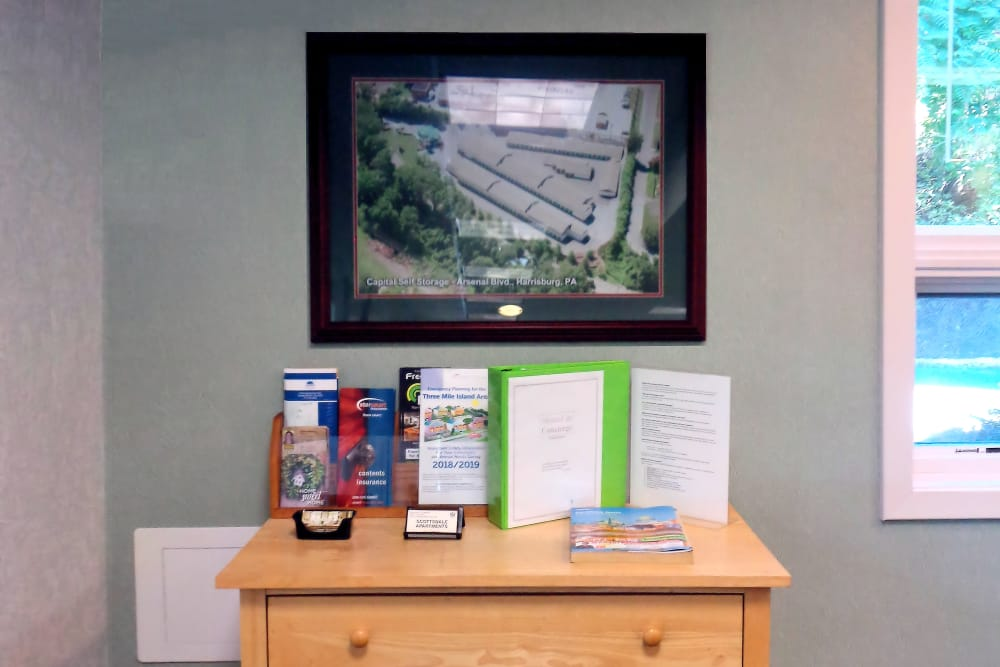 Brochures available at Capital Self Storage in Harrisburg, PA