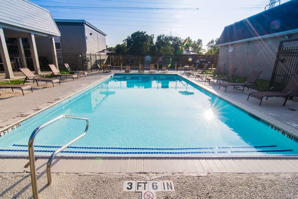Sparkling pool at Northlake Manor Apartments