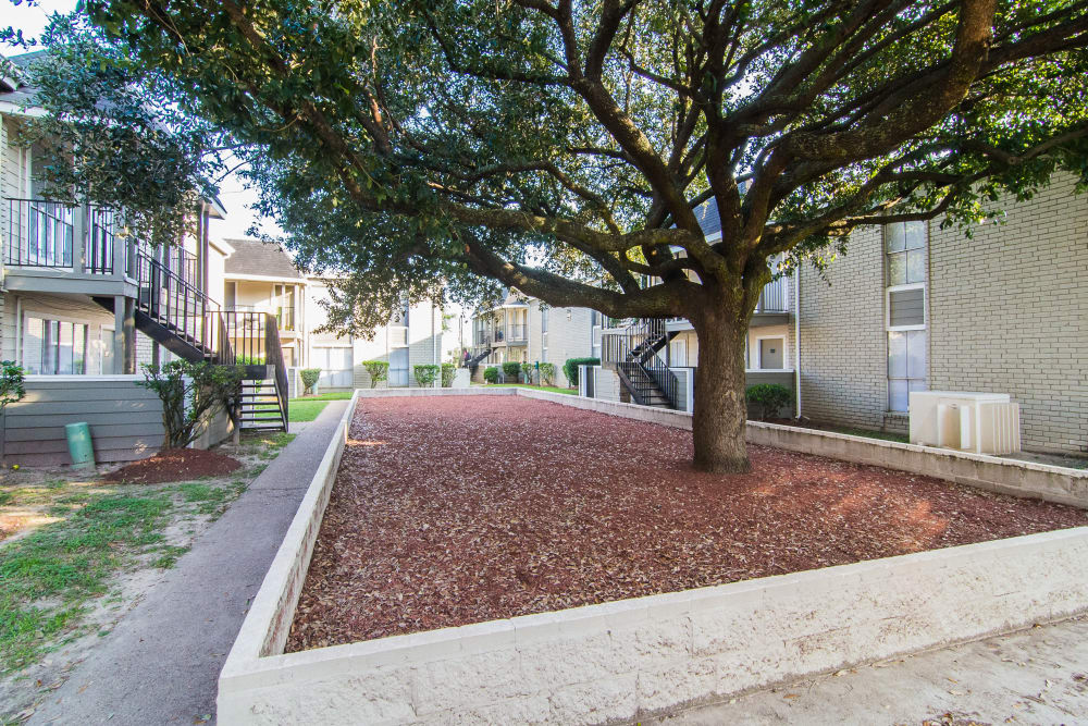 Community courtyard at Northlake Manor Apartments
