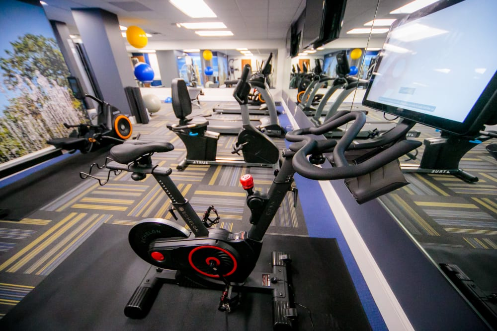 Spin cycle at fitness center at The Reserve at 4th and Race in Cincinnati, Ohio