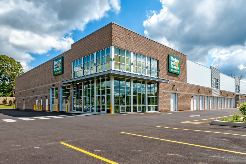 Exterior view of Metro Self Storage in Line Lexington, Pennsylvania