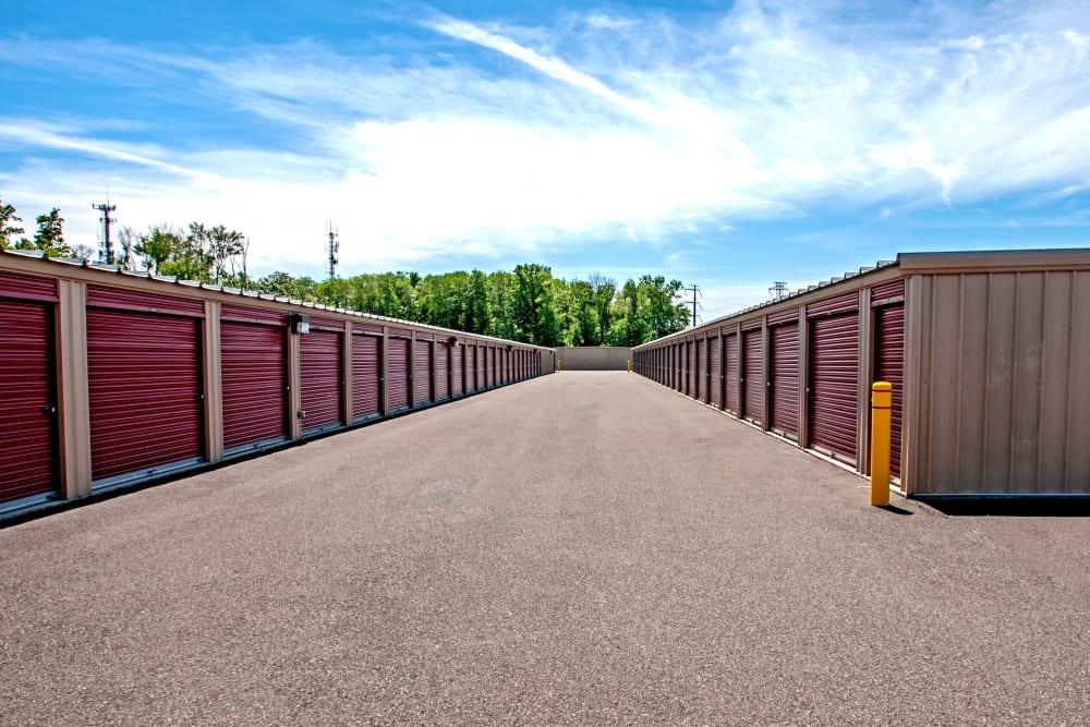 Exterior drive up units at Metro Self Storage in North Wales, Pennsylvania