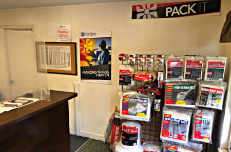 Office and supplies at StorQuest Self Storage in Arvada, Colorado