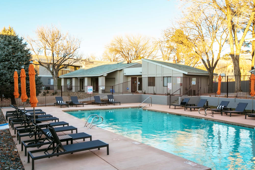 Swimming pool at apartments in Albuquerque, New Mexico