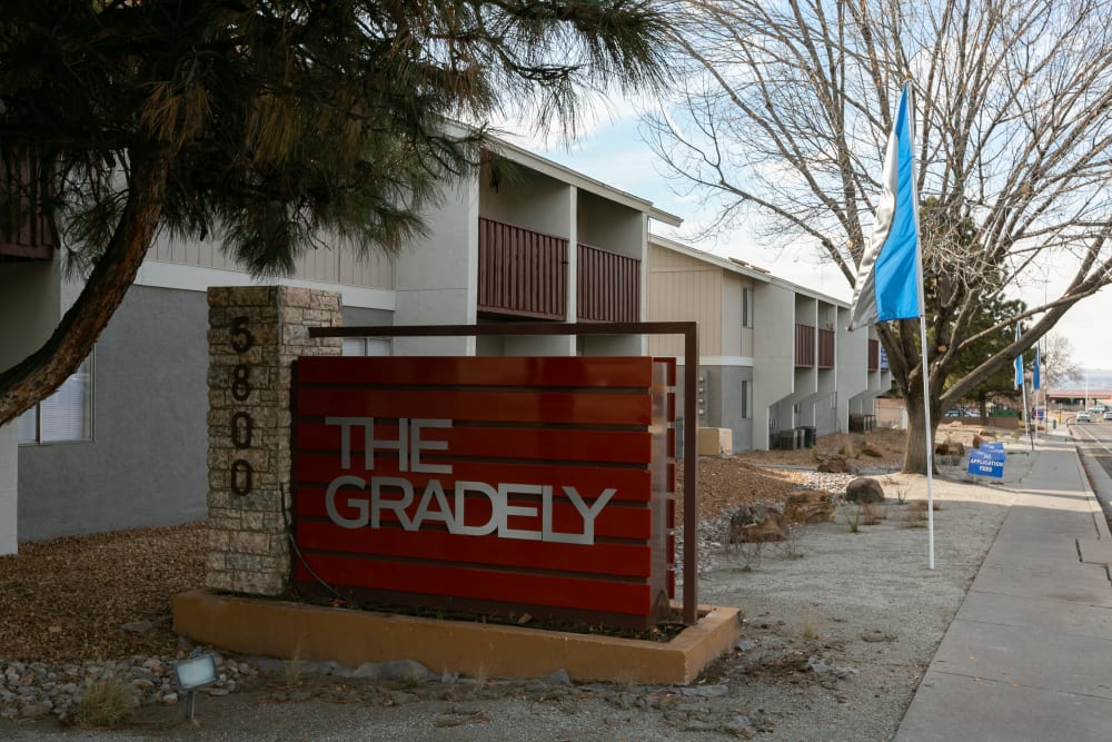 Sign at The Gradely in Albuquerque, New Mexico
