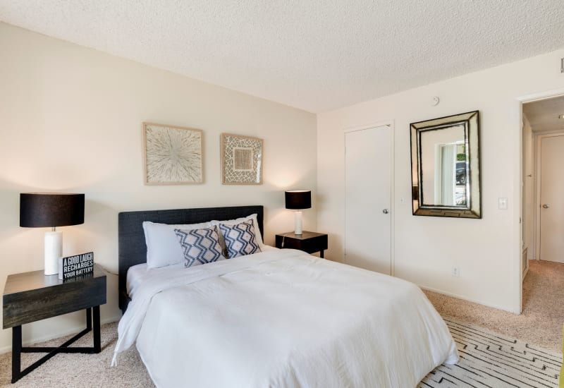 Master bedroom at The Heights at Grand Terrace in Grand Terrace, California