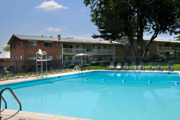 Sparkling pool at Fireside Park Apartments