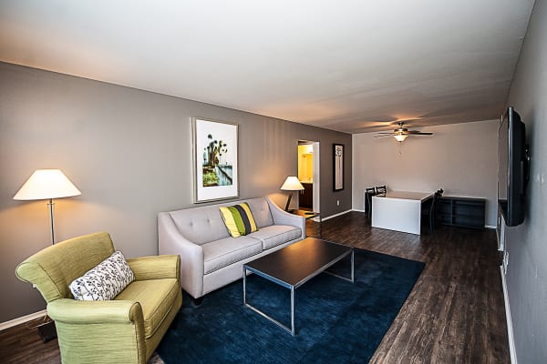 An example living room at Spice Tree Apartments