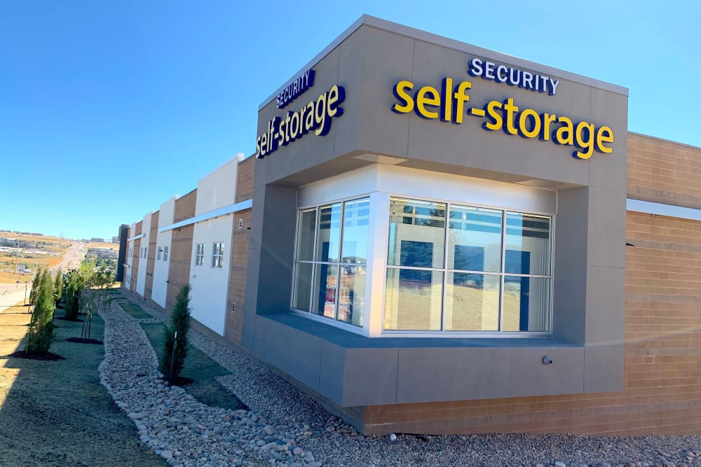 The exterior of Security Self-Storage in Colorado Springs, Colorado