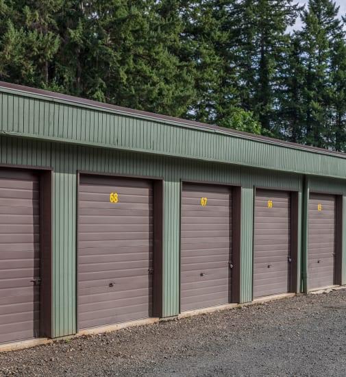 Drive up storage units available at Bainbridge North Storage in Bainbridge Island, Washington.