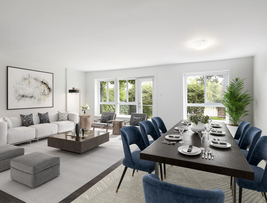 Bayview Mews offers a beautiful living room in North York, Ontario
