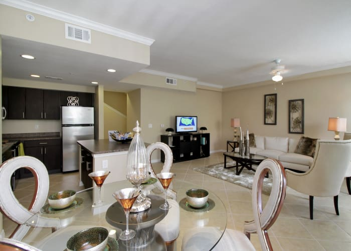 Luxuriously decorated model home at IMT Miramar in Miramar, Florida