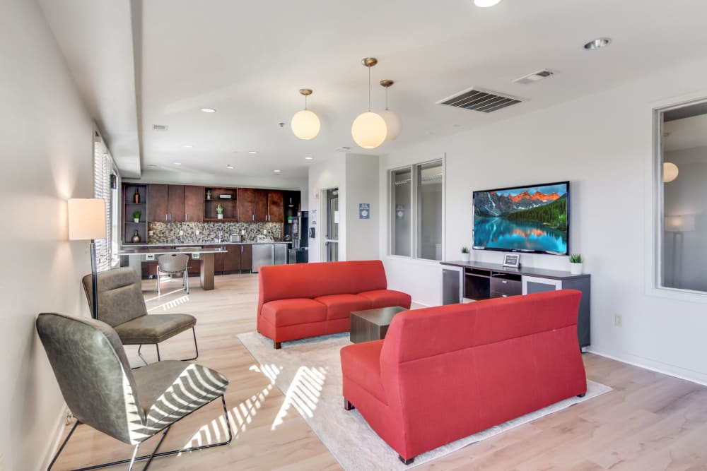 Lounge area at 12 South Apartments in Nashville, Tennessee
