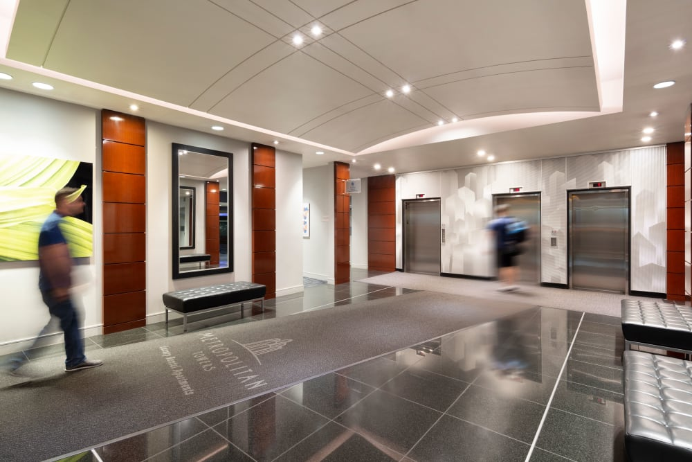 Elevator access available at Metropolitan Towers in Vancouver, British Columbia