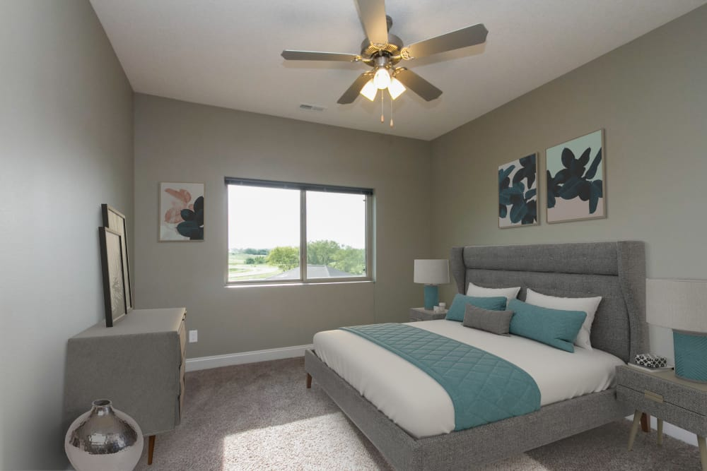 Bedroom layout at The Cascades at Jordan Creek in West Des Moines, Iowa