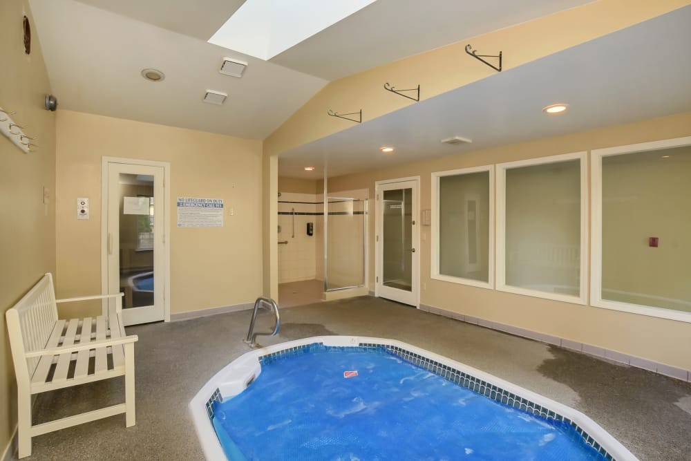 Hot tub at Arbor Square Apartments In Olympia WA