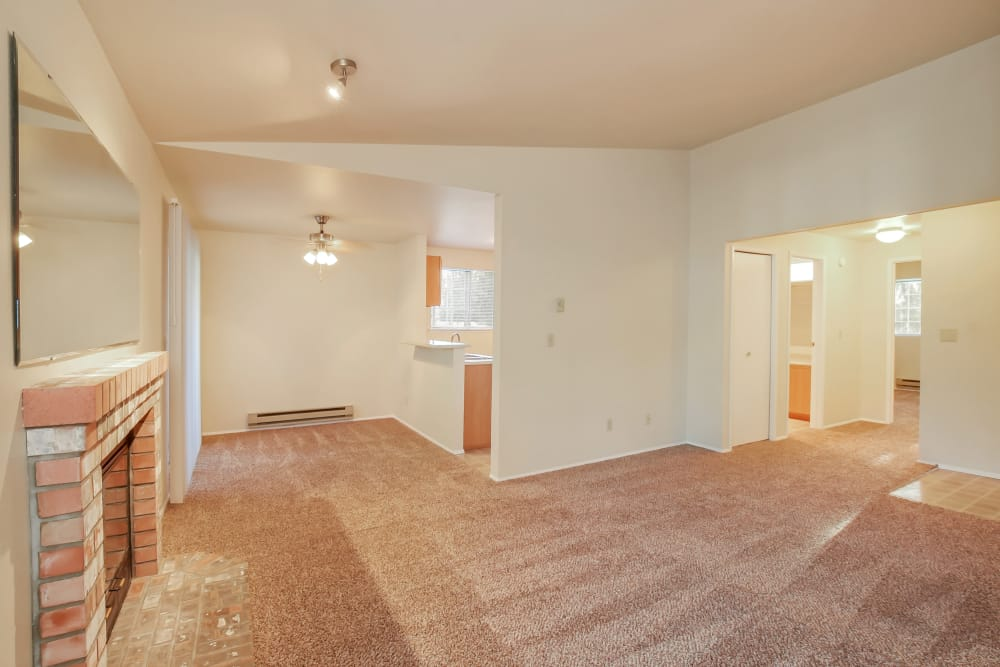 Enjoy apartments with a spacious living room at Arbor Square Apartments in Olympia, Washington