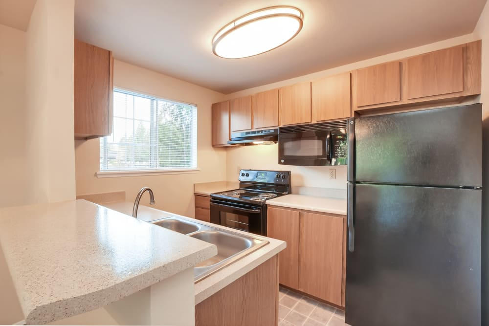 Kitchen at Arbor Square Apartments in Olympia, Washington