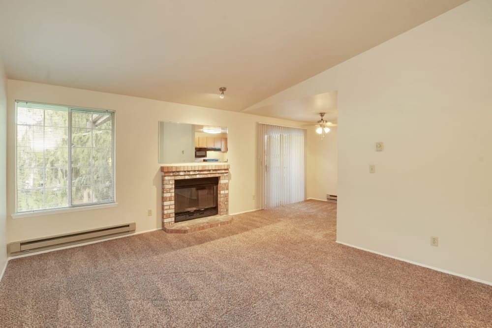 Arbor Square Apartments offers a spacious living room in Olympia, Washington