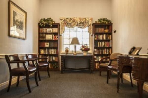 Library at The Stilley House Senior Living in Benton, Kentucky