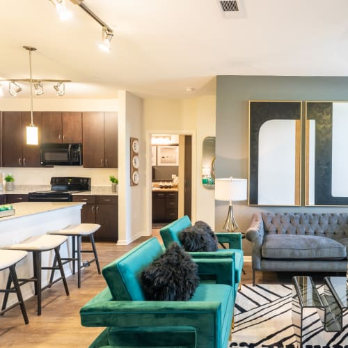 View virtual tour for 2 bedroom 2 bathroom home at Haven at Liberty Hills in Houston, Texas