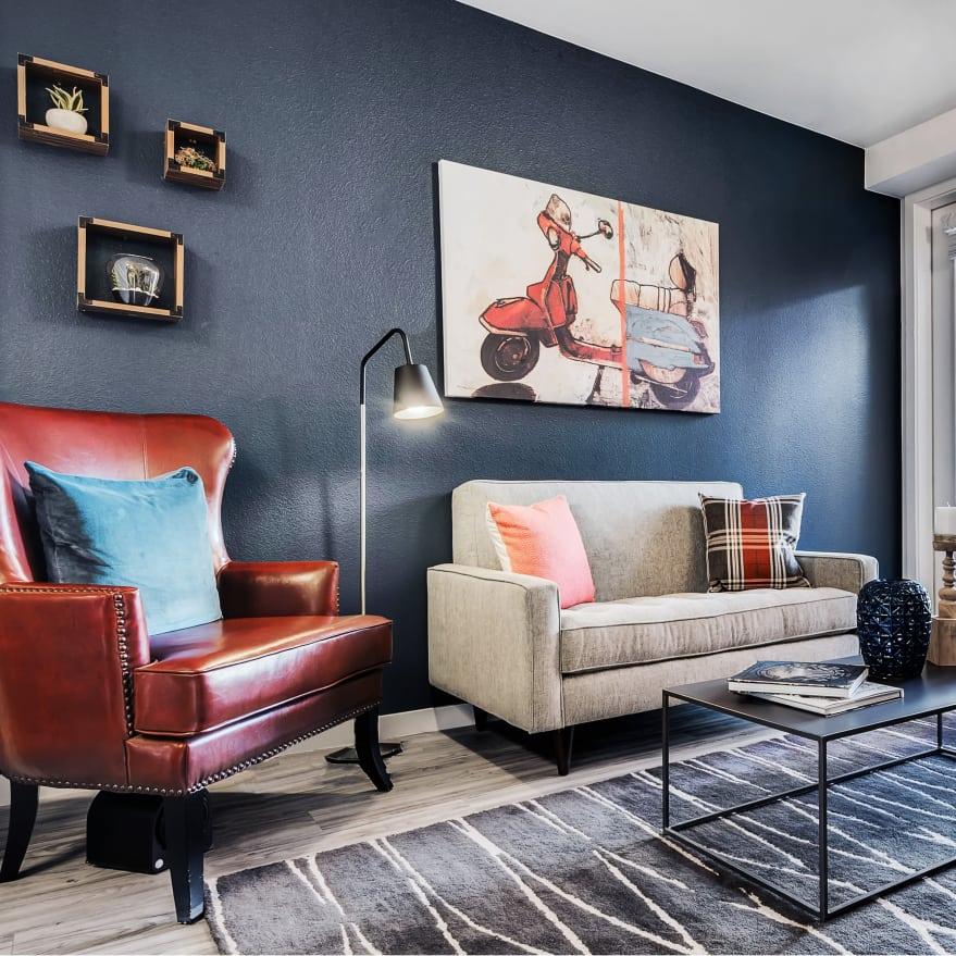 Apartment interior at Solana Cherry Creek in Denver