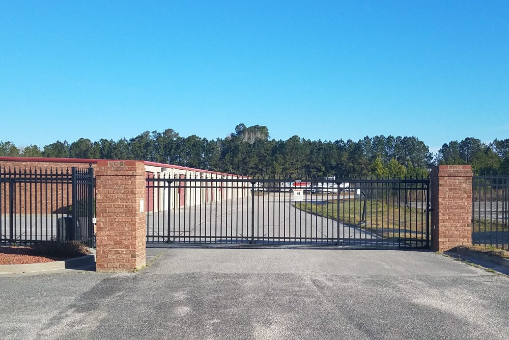 Access gate at Monster Self Storage in Ocean Isle Beach, North Carolina