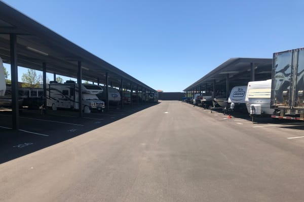 RV and boat parking of our storage facility on Golden State Storage Cadence in Henderson, Nevada