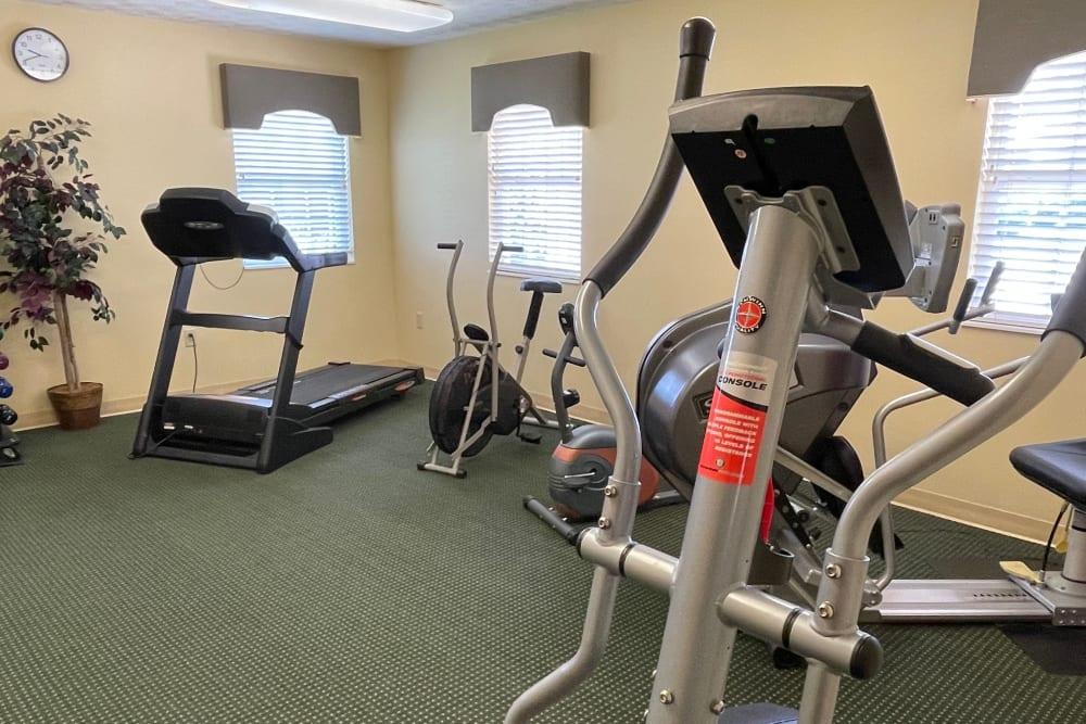 Fitness center at Triple Creek Retirement Community in Cincinnati, Ohio
