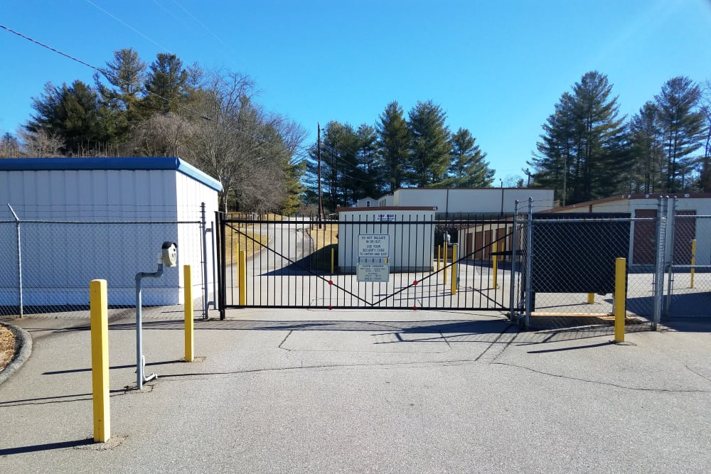 Access gate at Monster Self Storage in Asheville, North Carolina