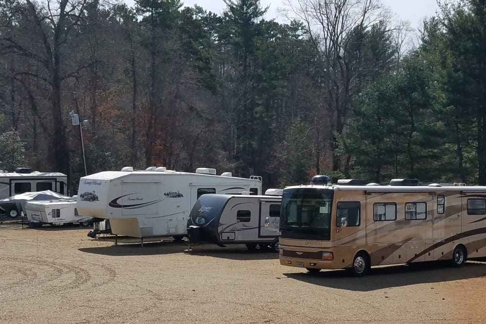 RV storage provided by Monster Self Storage in Asheville, North Carolina