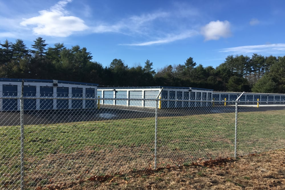 Safe Storage in East Baldwin, Maine, is fully fenced