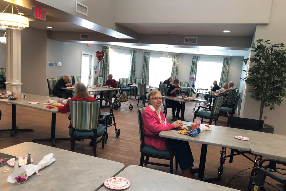 Valentine's Day celebration resident at Keystone Place at Wooster Heights