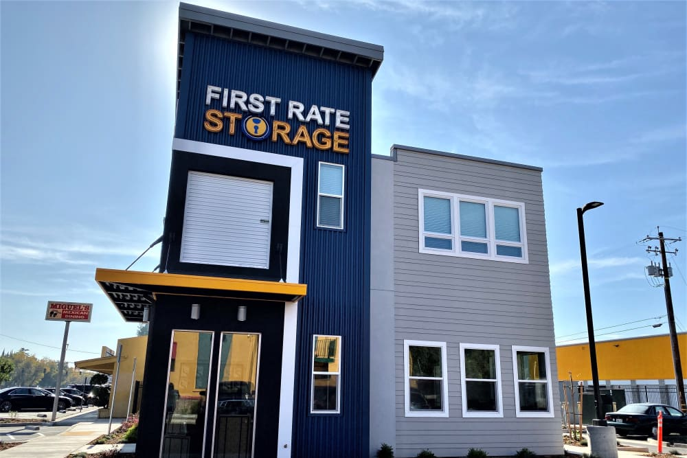 Front Entrance to First Rate Storage in Stockton, California
