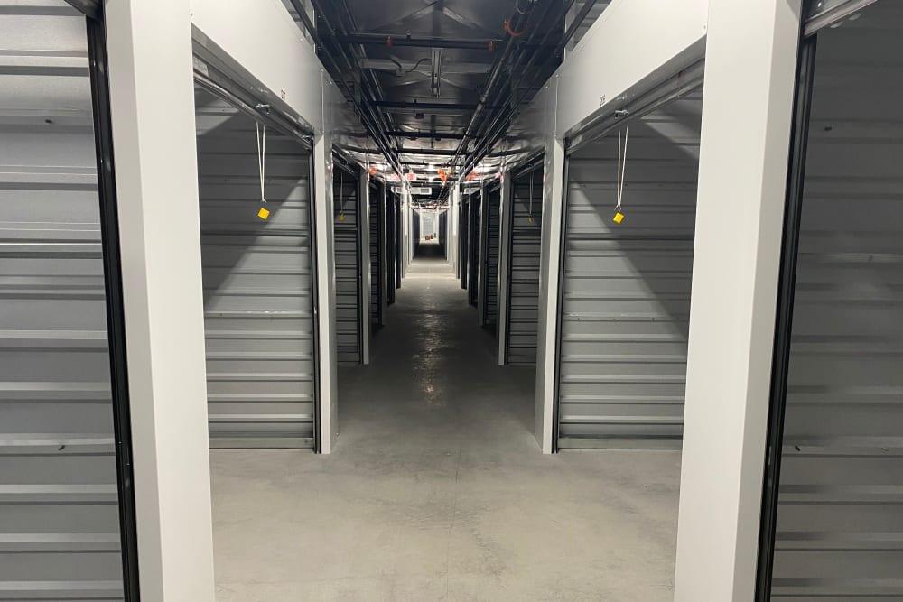 Open interior storage units at StorageOne Horizon & Sandy Ridge in Henderson, Nevada