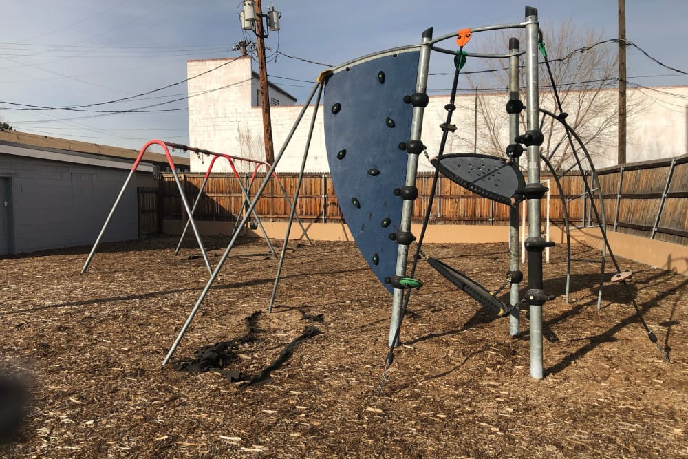 Playground outside Tiffany Square in Lakewood, Colorado