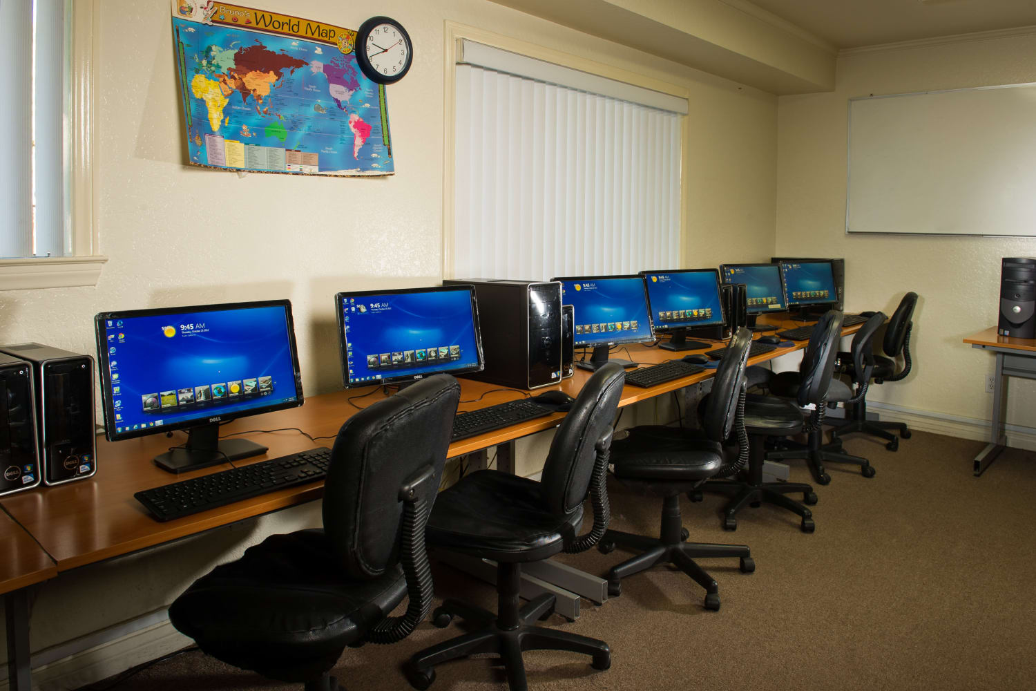 Computer room at Chatham Village in Tustin, California