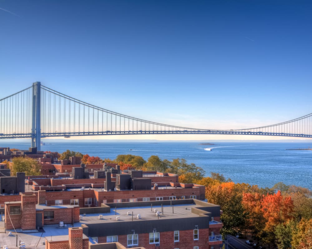 View of a bridge in Staten Island, New York near Park Lane at Sea View