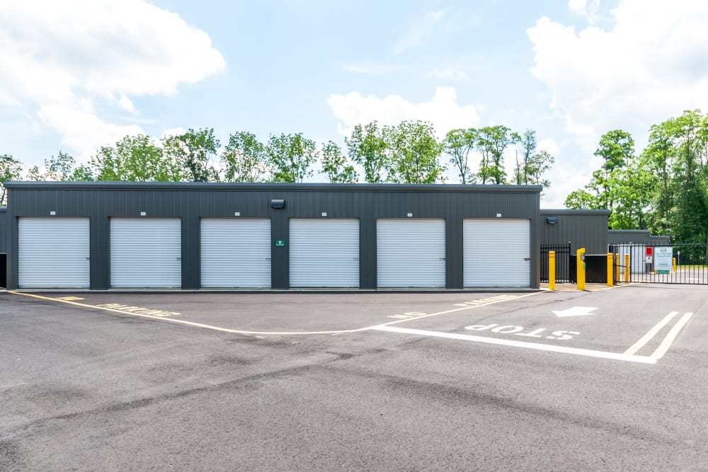 Drive up outdoor access storage units at Metro Self Storage in Mount Laurel