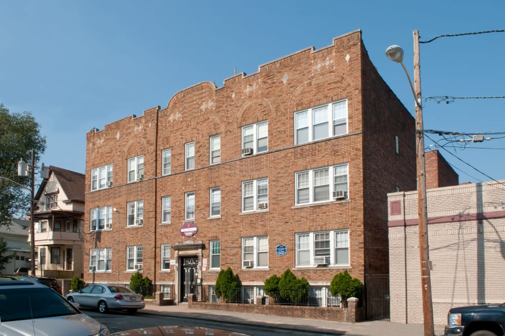 Exterior of Murray Apartments in Paterson, New Jersey