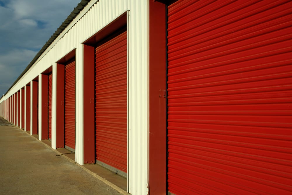 Outdoor storage units at Box Self Storage in Junction City, Kansas