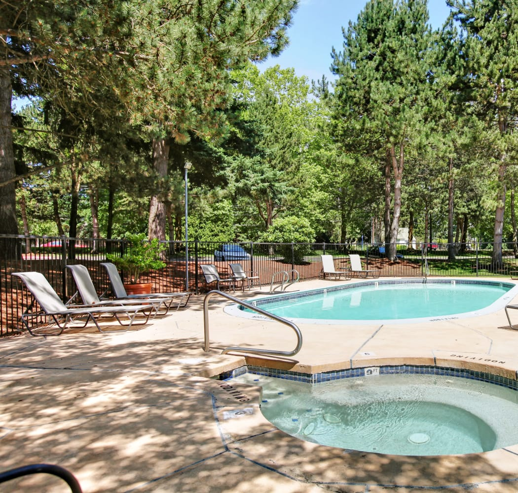 Swimming pool at Jasper Place in Beaverton, OR